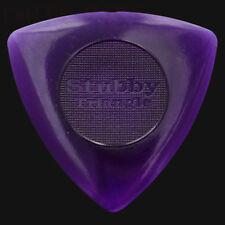 DUNLOP Tri Stubby plettri per chitarra Plectrums 3mm viola-confezioni da 6 10 12 20 24 36