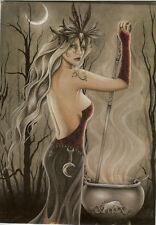 J 00004000 essica Galbreth Greeting Card Cerridwen Wicca Fairy Eu Size 17x12.5cm 6.6x4.8in