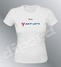 Tee shirt personnalise MT07 S M L XL femme moto MT-07