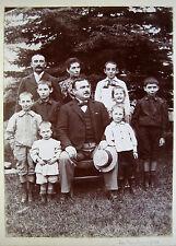 PHOTO 1896 GENEALOGIE FAMILLE GARROS ONCLE GEORGES ET SA FAMILLE b788