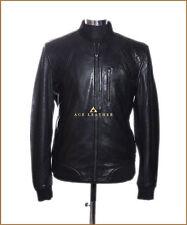 Wayne noir homme smart casual style designer vrai doux cuir d'agneau veste en cuir