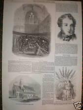 Baron lionel De Rothschild 1847 print