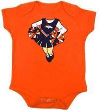 Denver Broncos NFL Orange Baby/Toddler Girl's Team Cheerleader Creepers: 12m-24m