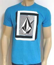 Volcom Stone Illusions Tee Mens T-Shirt Blue Tee T-Shirt New NWT