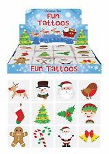 Xmas Christmas Temporary Tattoos Childrens Stocking Party Bags Pinnata Fillers