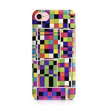 Multicolore Rubix Cube Carrés Collage Elmer Éléphant Art Téléphone étui Housse