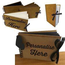 Eco-arts PERSONALISED sketchbook pad scrapbook hardback anniversary Kraft Recyc