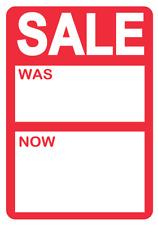 Rojo Brillante Sale Fue / ahora Precio Pegatinas / Etiquetas para Usar con