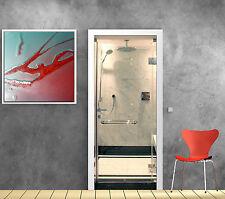 Sticker pour porte cabine douche ref 870
