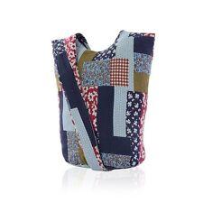 Womens Canvas Print Messenger Tote Cross Body Shoulder Handbag Purse Bag X-Large