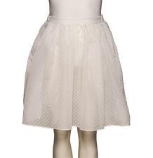 Girls White KDVS RAD Voile Spotty Basic Dance Ballet Skirt All Sizes By Katz