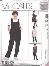 8012 UNCUT Vintage McCalls SEWING Pattern Maternity Jumper Top Jumpsuit Pants FF