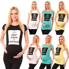 Keep Calm I'm Pregnant Slogan Cotton Printed Maternity Pregnancy Top Tshirt 2008