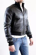 ★Giacca Giubbotto Uomo in di PELLE 100% Men Leather Jacket Veste Homme Cuir e8ad