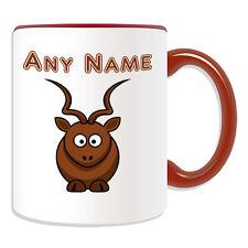 Personalised Gift Antelope Mug Money Box Cup Name Message Gazelle Sheep Goat Ram