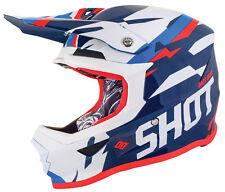 NEW SHOT FURIOUS SCORE MOTOCROSS MX ENDURO HELMET BLUE NEON KTM ORANGE
