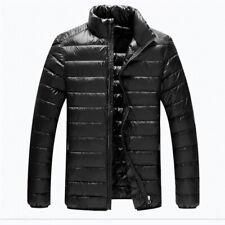 Mens Stand Collar Puffer Coat Duck Down Outwear Lightweight Portable Warm Winter
