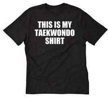 This Is My Taekwondo ShirtT-shirt Funny Korea Korean Martial Arts Tee Shirt S-5X