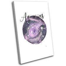 Constellation Aquarius Star Sign Starsign SINGLE TOILE murale ART Photo Print