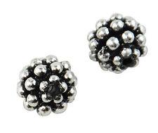 50 pcs Antique Plastic Silver Bumpy Bead 37887-164 Jewellery making accessories