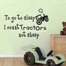 Count Tractors Not Sheep Farm Child Bedroom Wall Art Vinyl Decal Sticker V31