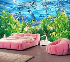 3D Fond Couleur 65 Photo Papier Peint en Autocollant Murale Plafond Chambre Art