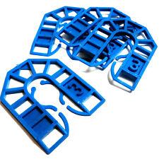 Azul 3 Mm De Plástico Herradura embalaje Cuña - 55 Mm X 43 Mm X 3mm-Packer / Cuña