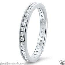1.00carat Round Diamond Channel Set Full Eternity wedding Ring in 950 Platinum