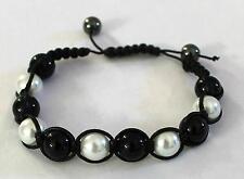 Negro Perla Bead Pulseras Para Mujer al por mayor de joyería del grano