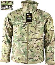 Mens British Army Combat Military Trooper Shark Jacket Recon Smock Fleece Camo