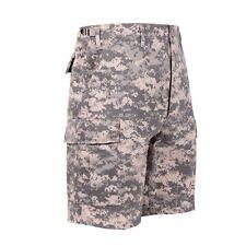 ACU Digital Camo Military BDU Button Fly Cargo Shorts 65312 Rothco