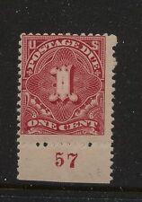 US  J31 Mint NH  plate #57  single      catalog  $300.00         MS0508