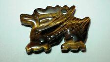 Gemstone Dragon Bead Tiger Eye Quartz Jasper Agate Animal DIY Charm