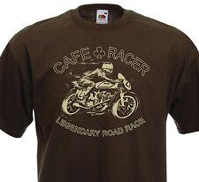Tee shirt CAFE RACER Legendary Road Race  Racing Vintage Motorcycle Retro Norton