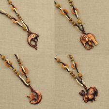 Vintage Elefant Delphin Halskette Pullover Halskette Mond Stern Anhänger Schmuck