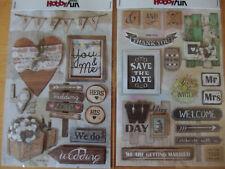 Hobby Fun 3D - Sticker - Hochzeit Vintage - Auswahl