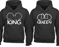 Couple Hoodie King Queen Mouse Ears HOODIE Couple Sweatshirt Cartoon King Queen