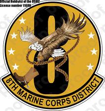 STICKER USMC   8TH MARINE CORPS DISTRICT