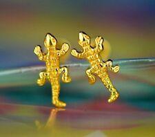 14k Yellow Gold Crocodile Stud Earring