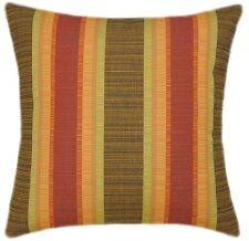 Sunbrella Dimone Sequoia Indoor/Outdoor Striped Pillow