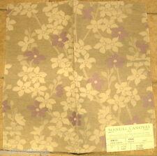 Manuel Canovas Ange Embroidered Floral Linen Violette Designer Fabric Sample