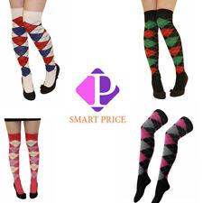 Large Net Stripe With Keyholes Mesh Black Lace Knee High Socks SO002952
