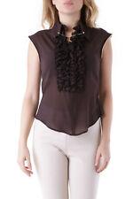 John Richmond VI-RCM0384 blusa para mujer - color marrón ES