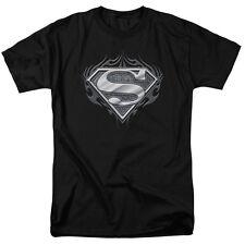 NEW Superman Biker Metal Shield T-Shirt Sizes S-3XL