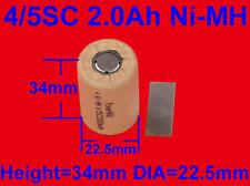 Battery 4/5SC Sub C For Hitachi Makita AEG Ryobi 2.0Ah Ni-MH Vacuum Cleaner RC