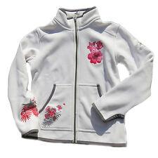 BOGNER Kids Jacke Nelina weiß Blumen Stitching Softshell 116 152 NEU
