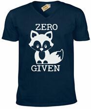 ZERO FOX GIVEN T-Shirt funny joke rude gift Mens V-Neck Tee