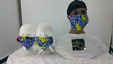 Fabric Facemask,Washable Reusable,100% Cotton,Filter Pocket Adj Nose Ridge Color