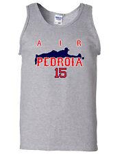 "Dustin Pedroia Boston Red Sox ""Air Pedroia"" jersey shirt TANK-TOP"