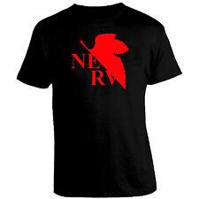 Neon Genesis Evangelion Nerv Logo Foglia tshirt t-shirt Maglietta maglia